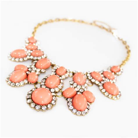coral encrusted cabochon cluster statement