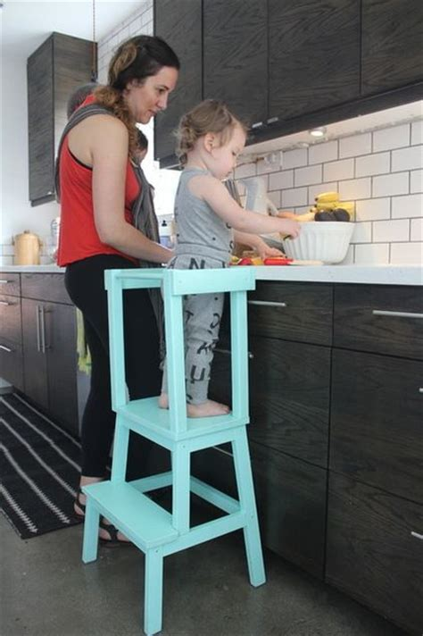 kitchen helper stool ikea learning tower out of a bekv 228 m step stool from ikea and