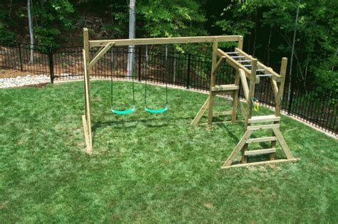backyard playground hand crafted wooden playsets swing