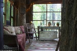 Shabby Chic Dining Room Chairs by Airbnb Luxury Treehouse In Atlanta Perches Among 150 Year