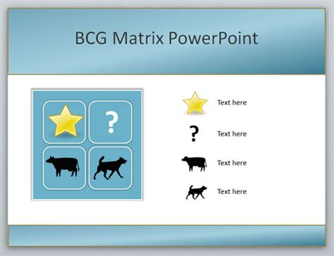 bcg powerpoint template how to create a boston consulting bcg matrix
