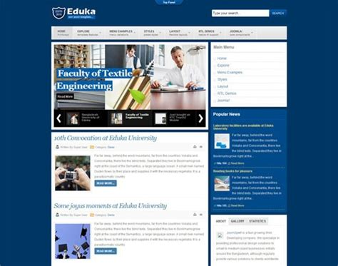 college university  joomla college university template