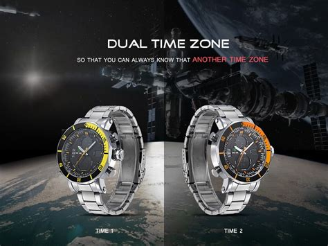 Weide Jam Tangan Sports 30m Water Resistance Wh5203 White weide dual time zone stainless quartz led sports 30m water resistance wh5203 white