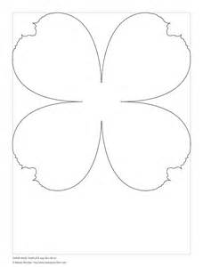big flower template printable paper template small flowers paper