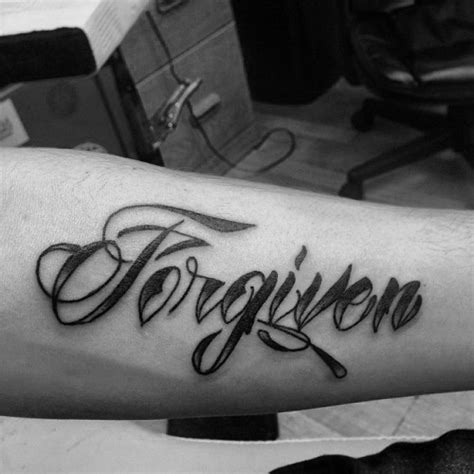 forgiveness tattoo 30 forgiven designs for word ink ideas