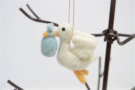 stork with baby ornament christmas ornament baby