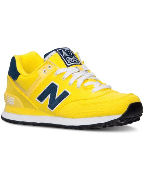 womens yellow sneakers new balance s 574 casual sneakers from finish line
