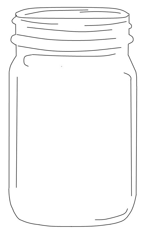 best templates for pages best photos of jar outline printable mason jar template