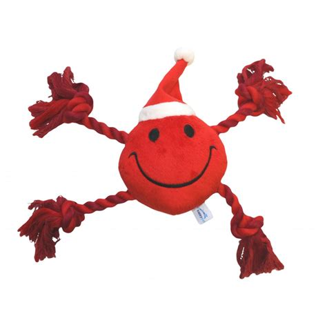 rope toys buy happypet festive happy faces plush rope