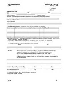Completion Form Template by Best Photos Of Completion Report Template