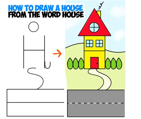 how to draw a house for kids step by step drawing drawing lessons for kids archives how to draw step by