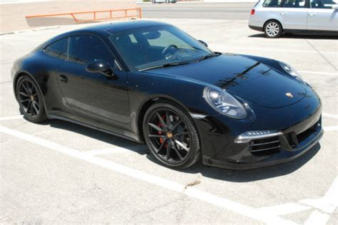 porsche 911 gts black porsche 911 991 gts power package black on black