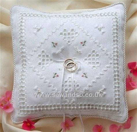 ring cushion for wedding pattern cross stitch wedding ring pillows photos of cross stitch