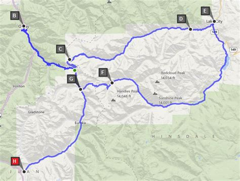 alpine loop colorado map alpine loop mtn air lover s view