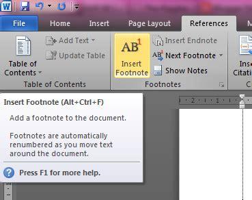 membuat footnote otomatis membuat bodynote dan footnote otomatis di ms word
