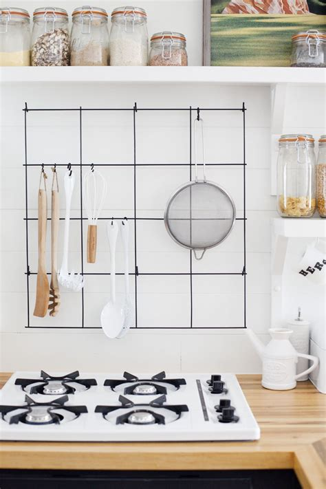 how to make kitchen rack at home diy wire utensil rack a beautiful mess