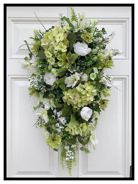 everyday floral door swag   door swag spring door