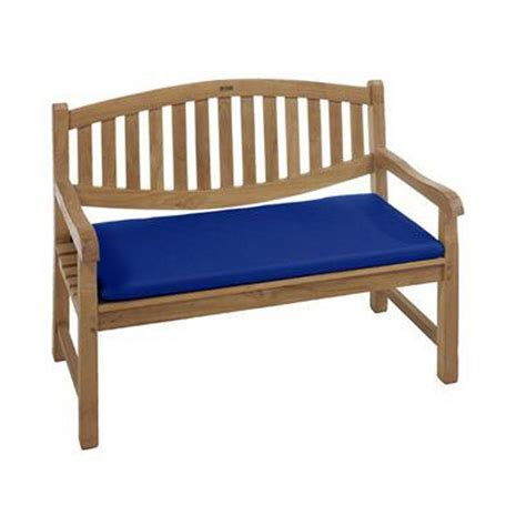 outdoor benches with cushions home decorators collection sunbrella blue outdoor bench