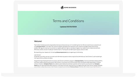 advertising terms and conditions template 5 best user generated content ideas for marketing