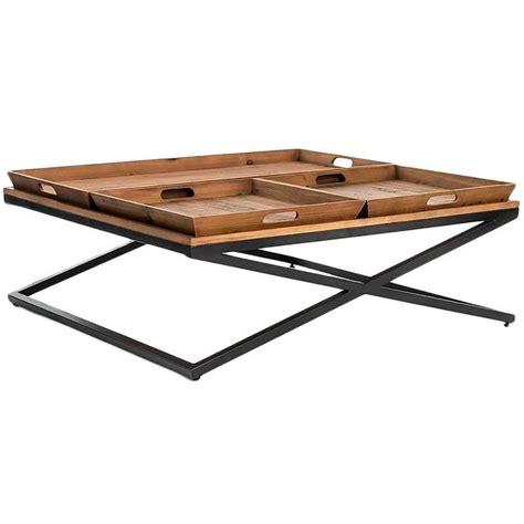 brown and black coffee table jax square brown and black coffee table