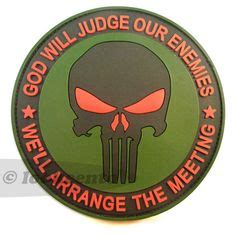 Rubber Patch God Will Judge Our Enemies Emblem Velcro Punisher custom home cinema theater 3d routed custom wood sign bar special custom wood signs