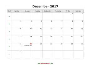 Blank calendar for december 2017 december 2017 calendar printable with
