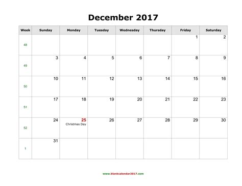 printable calendar december 2017 word blank calendar for december 2017