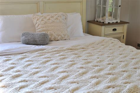 cable knit blanket king chunky cable knit blanket in wool by