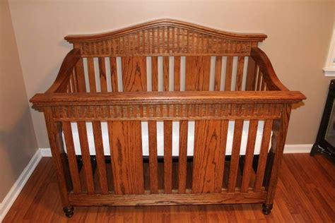 oak baby cribs oak baby crib by randy sharp lumberjocks