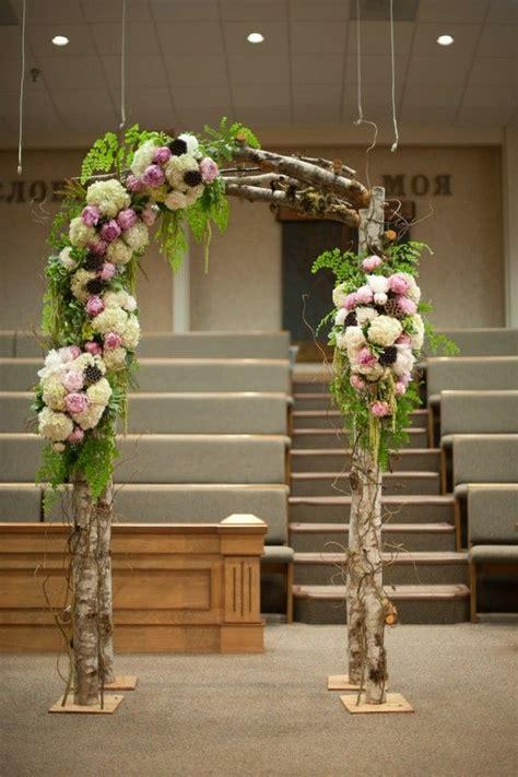 wood wedding arches arbors  altars weddingomania