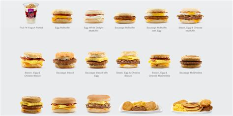 Mcd Breakfast 7 best images of printable mcdonald s menu breakfast