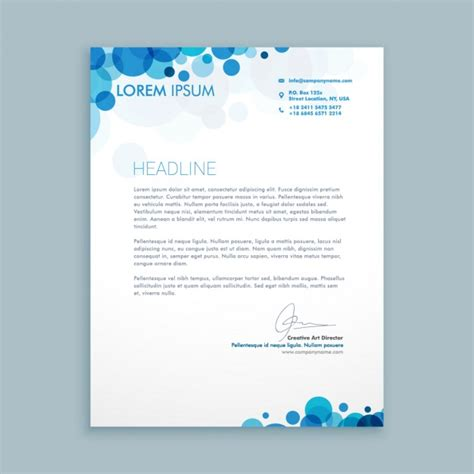 business letter blue circles vector