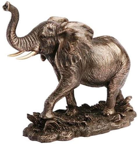 veronese bronze figurine animals lucky elephant home decor