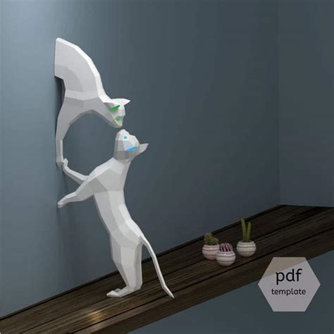 3d paper crafts templates 3d paper craft origami lets you build animal to hang