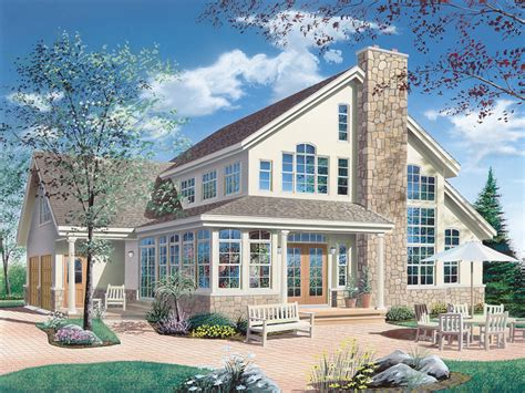 vacation home plans waterfront keldon waterfront vacation home plan 032d 0019 house