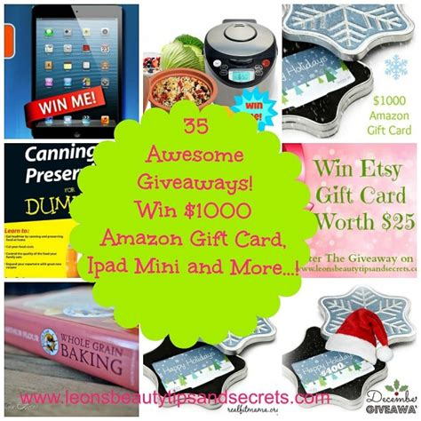 Ipad Mini With Gift Card - win 1000 amazon gift cards ipad mini etsy gift card