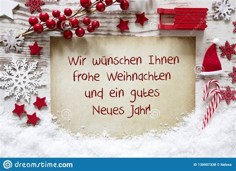 frohe weihnachten gutes neues jahr means merry christmas  happy  year stock photo image