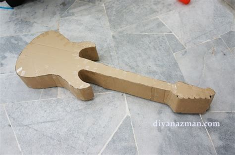 how to make an electric guitar pinata for rafa s 1st
