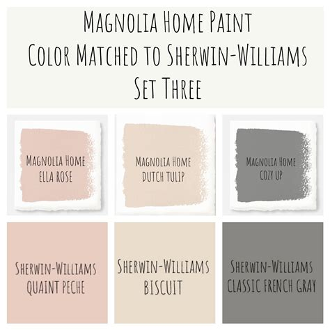 joanna gaines magnolia home paint color matched to sherwin williams perfect modern farmhouse
