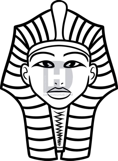 how to draw king tut for kids step by step drawing guide