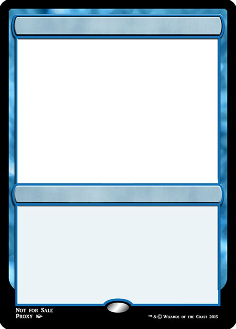 Magic Card Templates by Mtg M15 Blue Spell Fame Magic The Gathering Proxies
