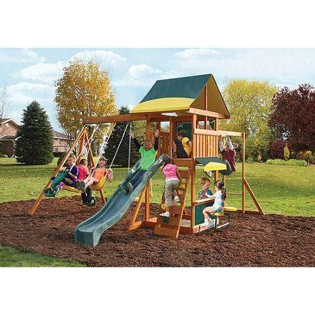 unique swing sets cedar summit brookridge cedar wooden play swing set