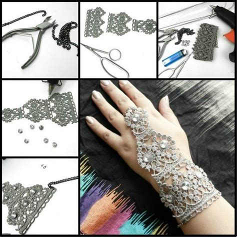 how to make lace jewelry this picture tutorial shows how to make this beautiful diy