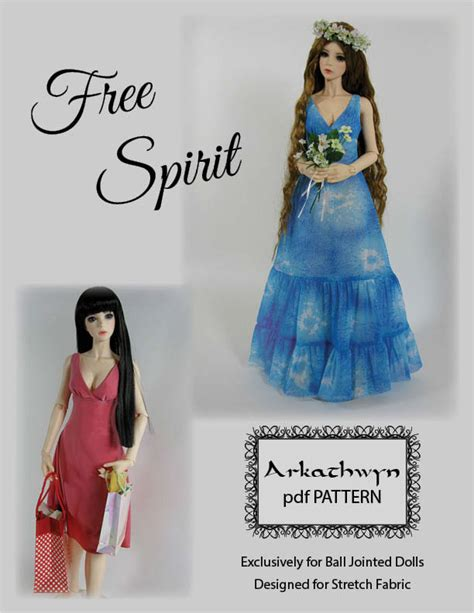 design clothes sewing free spirit bjd sewing pattern from arkathwyn designs
