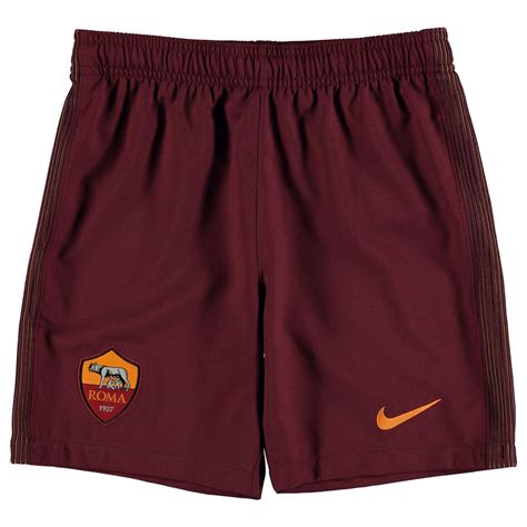 nike as roma home shorts 2016 2017 juniors maroon football soccer ebay