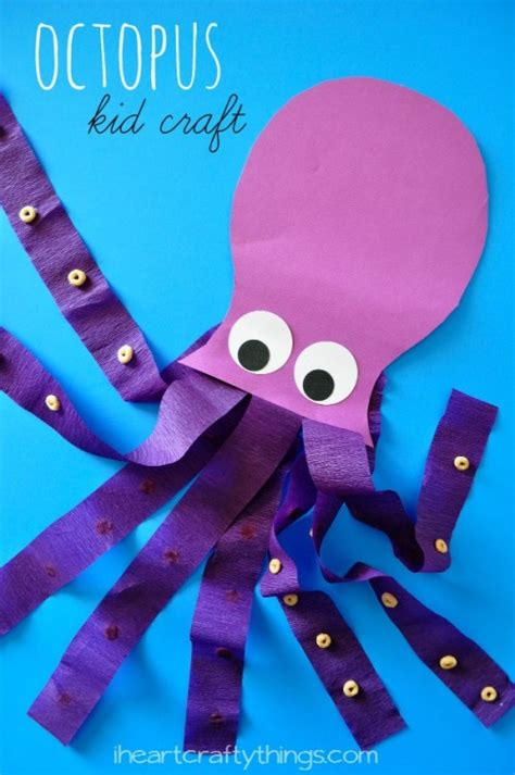 Octopus Papercraft - octopus craft i crafty things