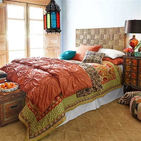pier one headboard for the adventurous get the bohemian look with layers of
