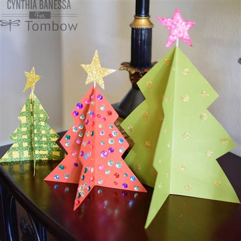 paper craft christmas tree christmas decore