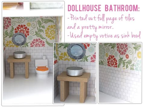 diy dollhouse bathroom diy bathroom ideas plus other rooms in the house from the
