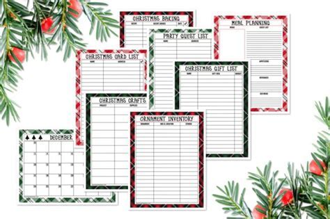 Free Printable Holiday Planner Pack   Pretty My Party